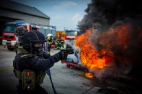 Cobra übt am Areal der NÖ Landes-Feuerwehrschule