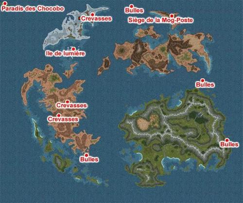 Final Fantasych FF9 Cartes Du Monde
