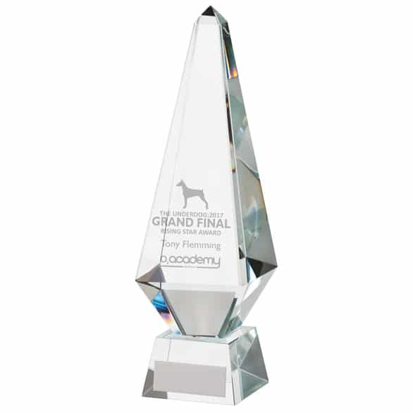 Monument Crystal Obelisk Award
