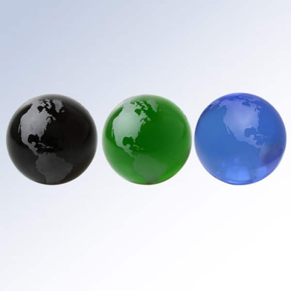 Black Globe-Frosted Continents