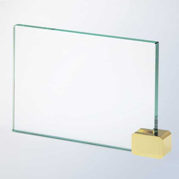 Achievement Award -Rectangular Holder Brass