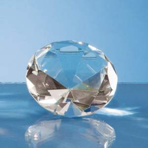 6cm Optical Crystal Clear Diamond Paperweight