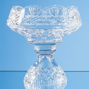 20cm Lead Crystal Scalloped Footed Bowl