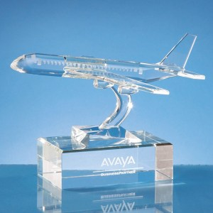 21.5cm Optical Crystal Airplane Award