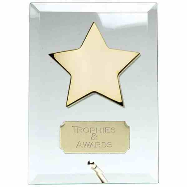 Crest7 Gold Star Jade Plaque