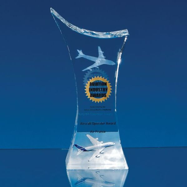 Optical Crystal Pointed Slope Award