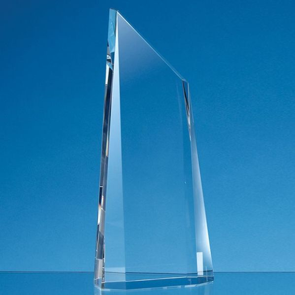 Optical Crystal Facetted Peak Award