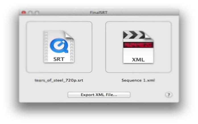 FinalSRT – Subtítulos en FCPX