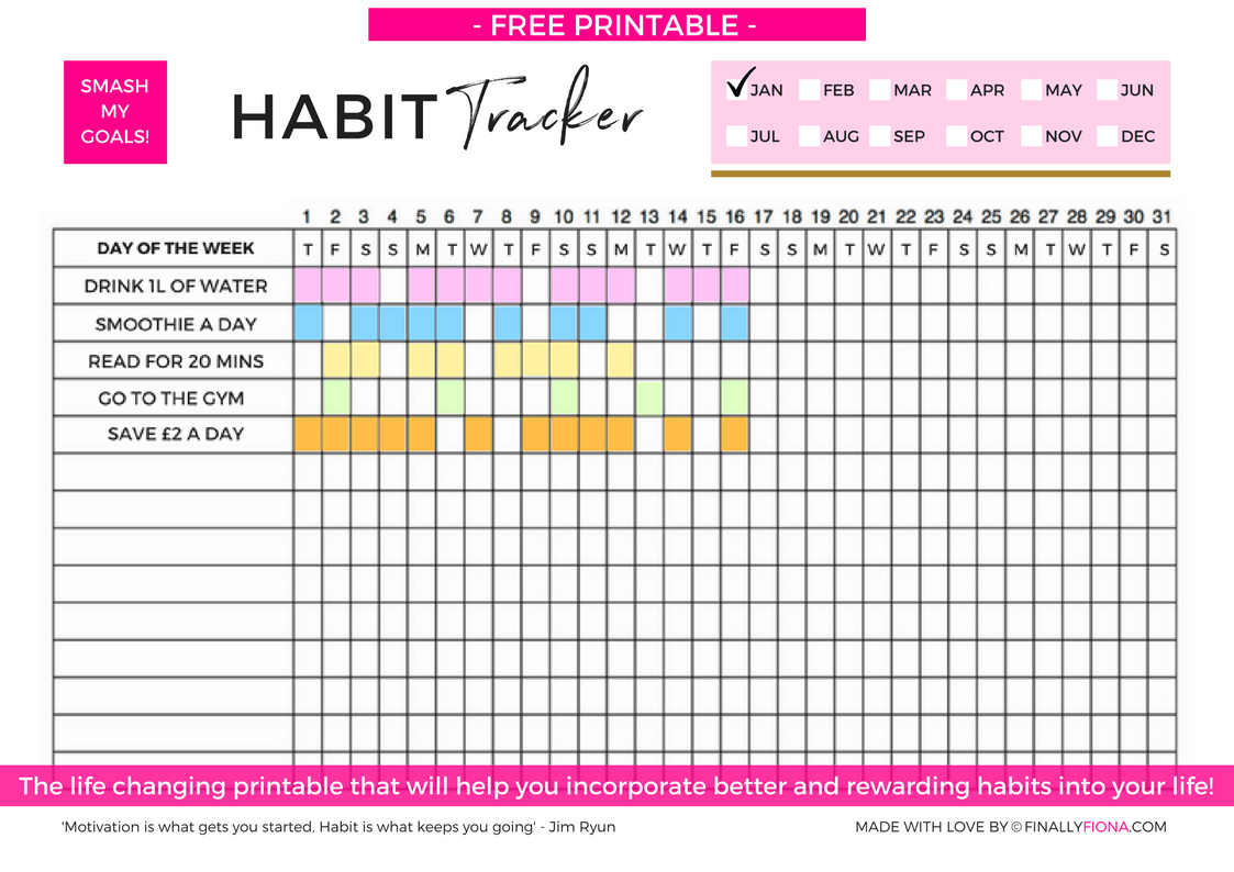 3 Free Printables To Help You Smash Your Goals