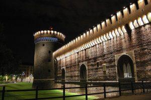 Castello Sforzesco di Milano by night