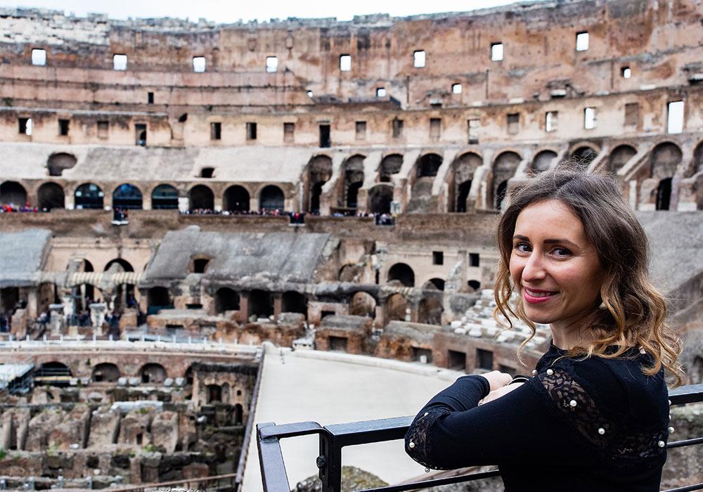 L'interno del Colosseo a Roma
