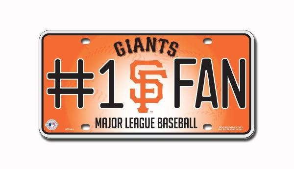 San Francisco Giants metal license plate | Final Playoff