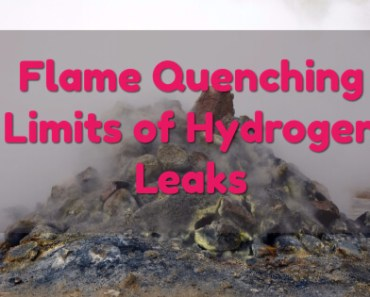 Flame Quenching Limits of Hydrogen Leaks 1