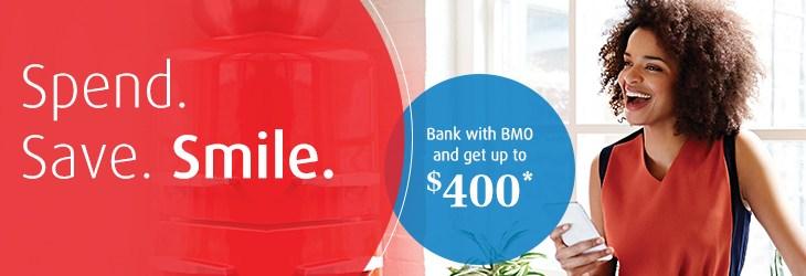 Ganhe até $400 abrindo uma conta com o BMO