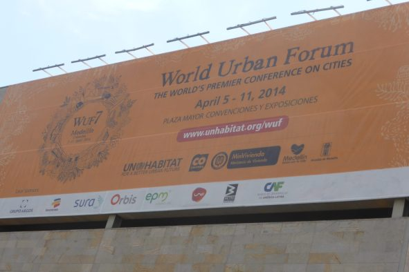 The United Nations held its World Urban Forum in Medellin from April 5-11, 2014 bringing together world municipal leaders to learn best practices and study Medellin's success and innovation.