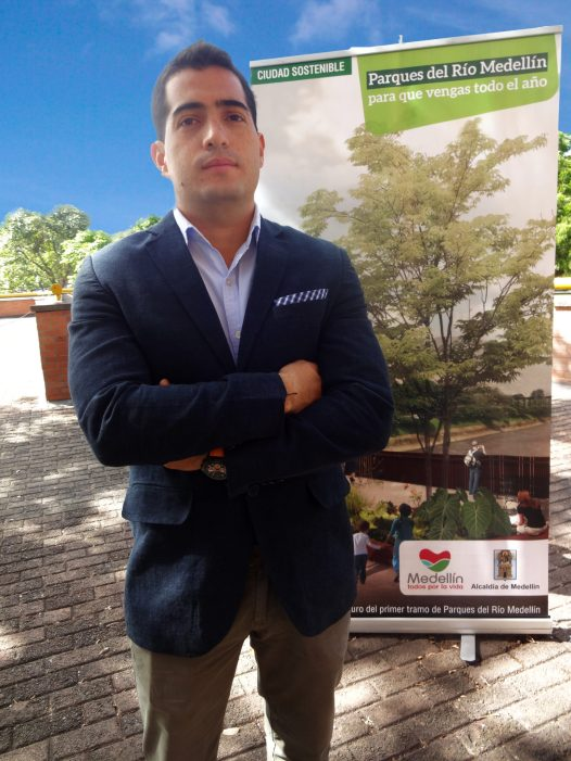 Juan Pablo Lopez is the director of Parques del Rio for the city of Medellín