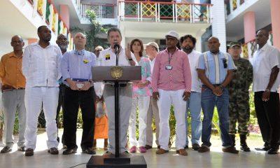 President Juan Manuel Santos in San Andres