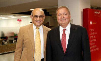 Avianca Chairman Germán Efromovich (left) and new President Hernán Rincón Kingsland Holdings Roberto Kriete