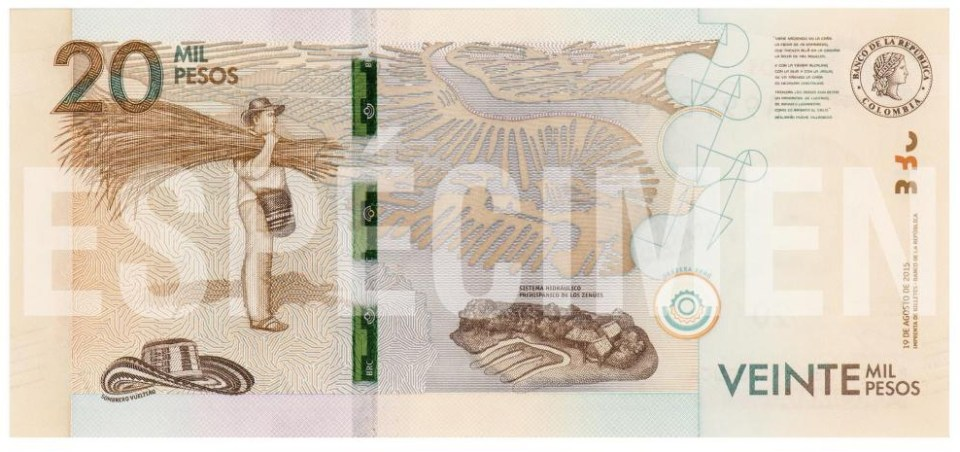 colombia peso 20 mil