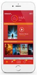 Avianca's new entertainment app. (Credit: Avianca)