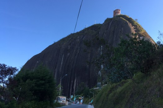 El Peñon is an ancient granite batholith in Guatapé and El Peñol that attracts thousands of tourists every month. Spectacular views of the surrounding countryside await those hardy enough to ascend the 659 steps to the summit.