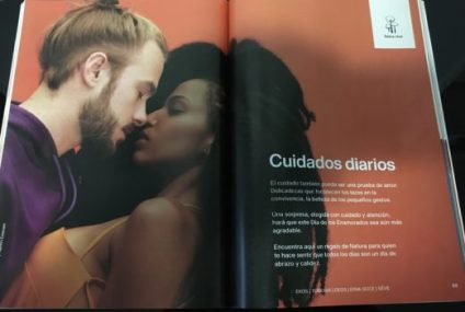 Natura, another catalog retailer, doesn't seem to face the same challenges. It's catalogs, printed in Colombia, feature Latin models almost exclusively. In this case, Brazilians Tiago Mendes and Yasmin Estevan.
