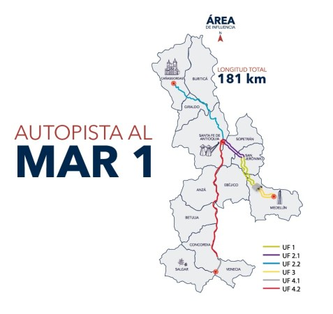 Autopista al Mar 1 Map Image courtesy Devimar