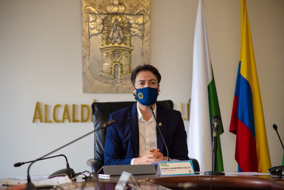 Medellín Mayor Daniel Quintero (Photo courtesy Alcaldia de Medellín)