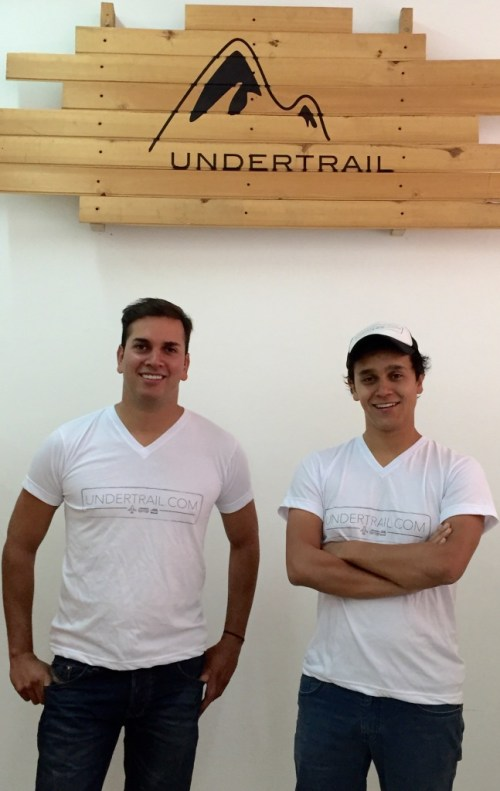 Undertrail co-founders, CEO James Figueroa, left, and Eduardo Maldonado