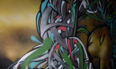 W Hotel Bogotá's graffiti close up