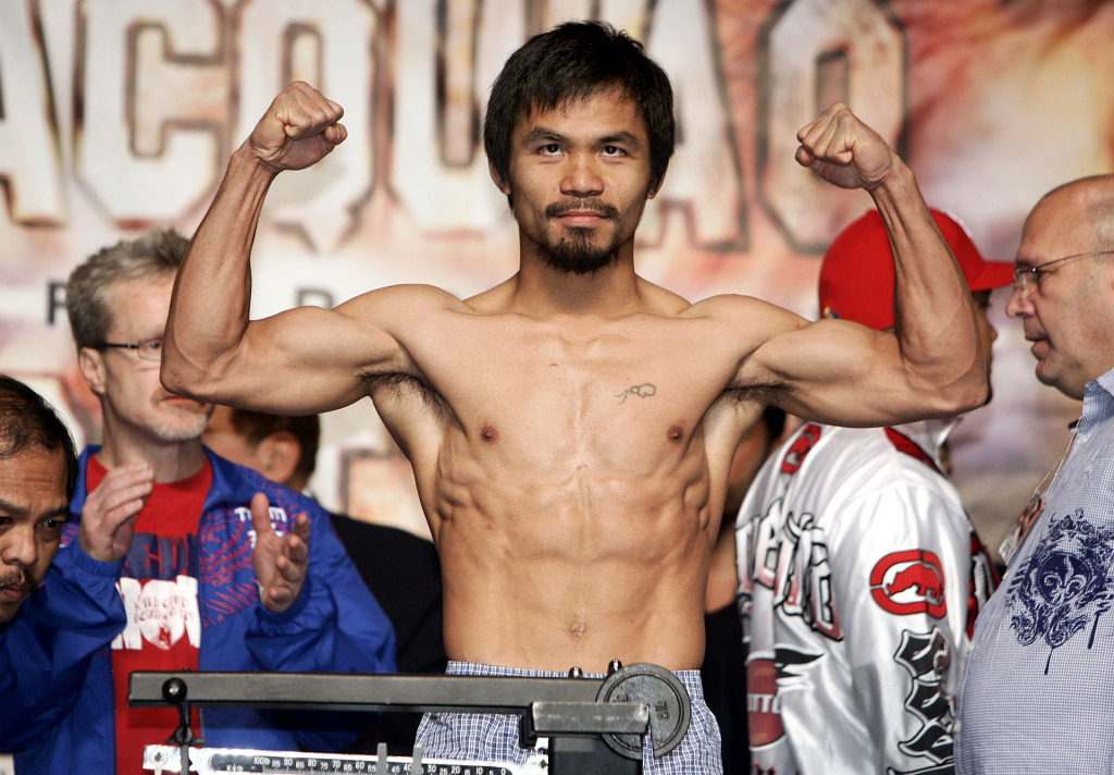 Manny Pacquiao biceps muscles and six pack abs, 2013-2014 wallpaper