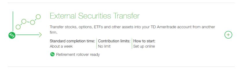 td external securities transfer