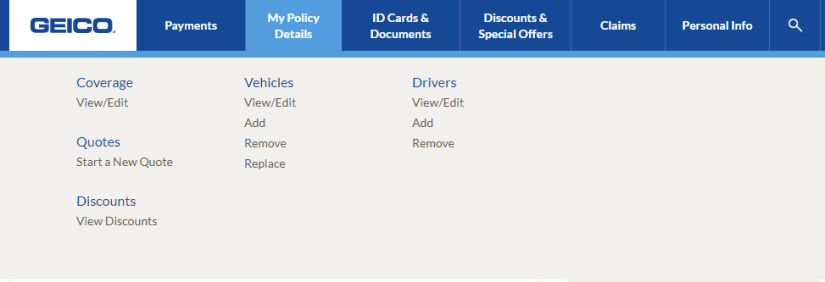 geico view discounts