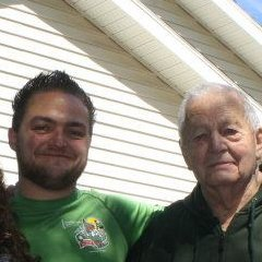 With my Grandpa in 2012