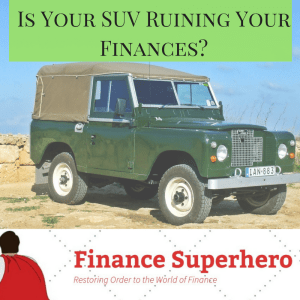 Millions of Americans love large sports utility vehicles. But could an unnecessary SUV be stealing your current financial stability and future retirement?