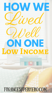 The dual income family is now normal. But you can live on one income without poor quality of life. In fact, you can live the good life! Read how we lived on a single income while still having fun!