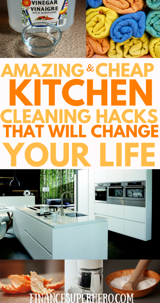 Advertisers want to you to believe the lie that kitchen cleaning requires costly products. Your inner clean freak will love these amazing and cheap hacks! We'll show you how to clean your counters, sink, refrigerator, microwave, pantry, and more using simple and basic products like vinegar, dish soap, ammonia, and salt. You'll save money, clean your kitchen, and protect your family from dangerous cleaners and chemicals at the same time.