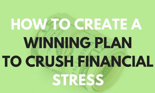 Money is the leading cause of stress in the world today. You can reduce your financial stress by creating a winning action plan today!