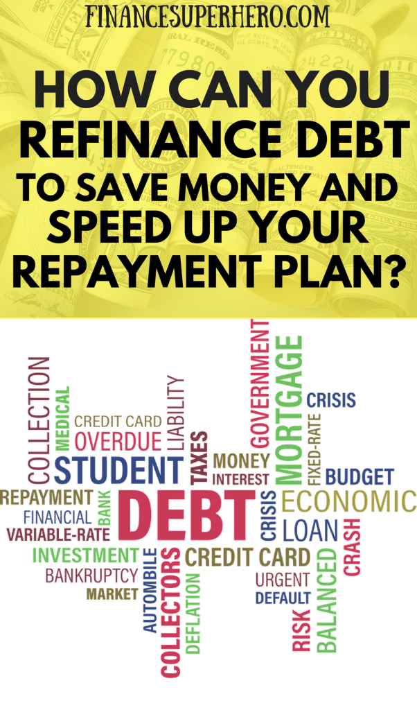 If you're in debt, the choice to refinance debt could be the spark to start paying it off quickly. Check out these helpful resources and crush your debt! We'll show you how to refinance student loans, use personal loans responsibly to refinance debt, review your options to refinance your mortgage before rates go up, and much more! If you're looking to stop wasting money on high interest payments to lenders, you need to read this article!