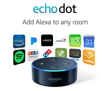 The Echo Dot with Alexa is one of the best gift ideas for grads and dads for 2017.