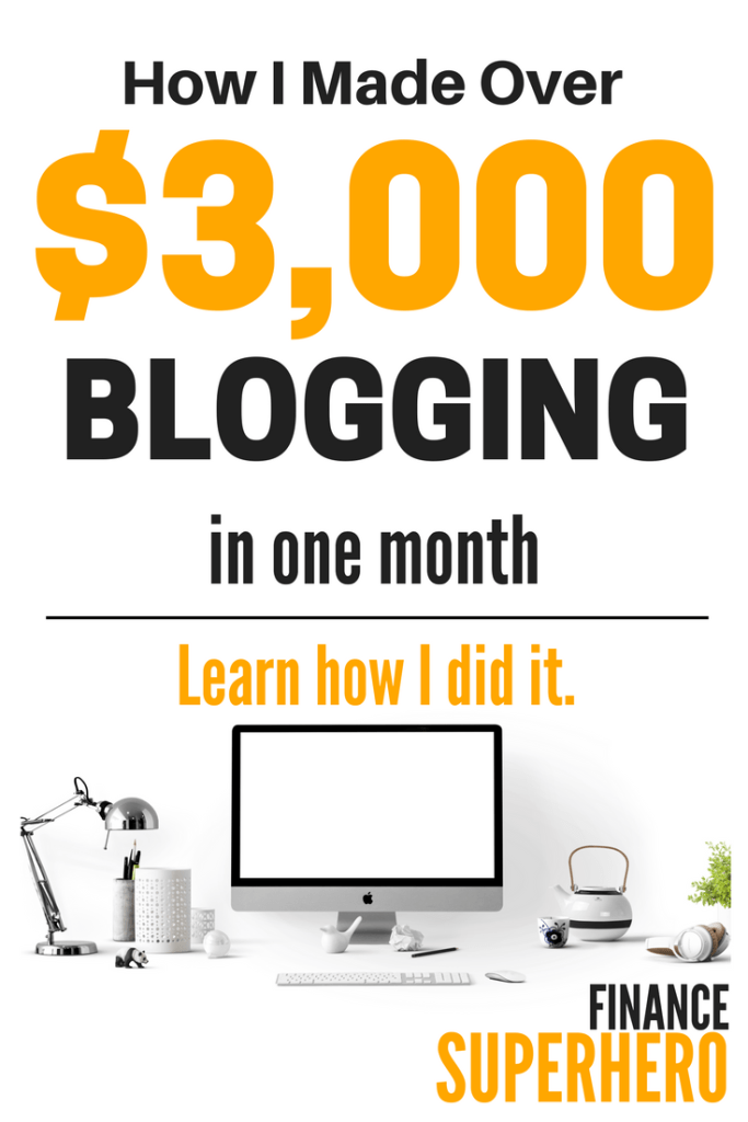 Welcome to my 10th monthly income report, where I breakdown how my blog earned $3,000 in revenue, lessons learned, and share tips for making money blogging.