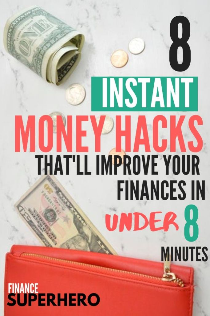 If you need to clean up your finances, this post is for you. We're dropping 8 quick and easy money hacks that'll help you make a plan and get on track to achieve your money goals!