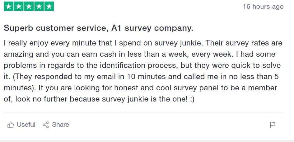 Survey Junkie TrustPilot Review