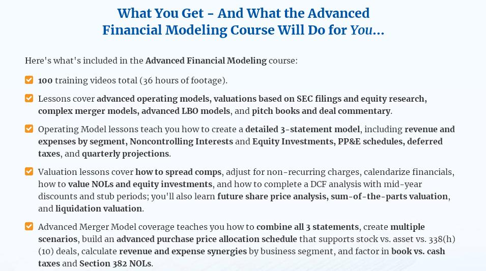 Financial modeling courses get an extra edge today biws advanced course fandeluxe Images