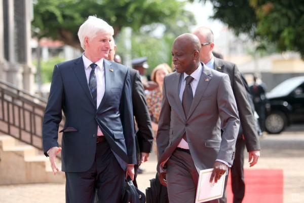 Johannes Selle, président du Groupe d'amitié Allemagne-Togo au Bundestag, et Robert Dussey, Ministre Togolais des affaires étrangères et de l'intégration africaine. ©DR