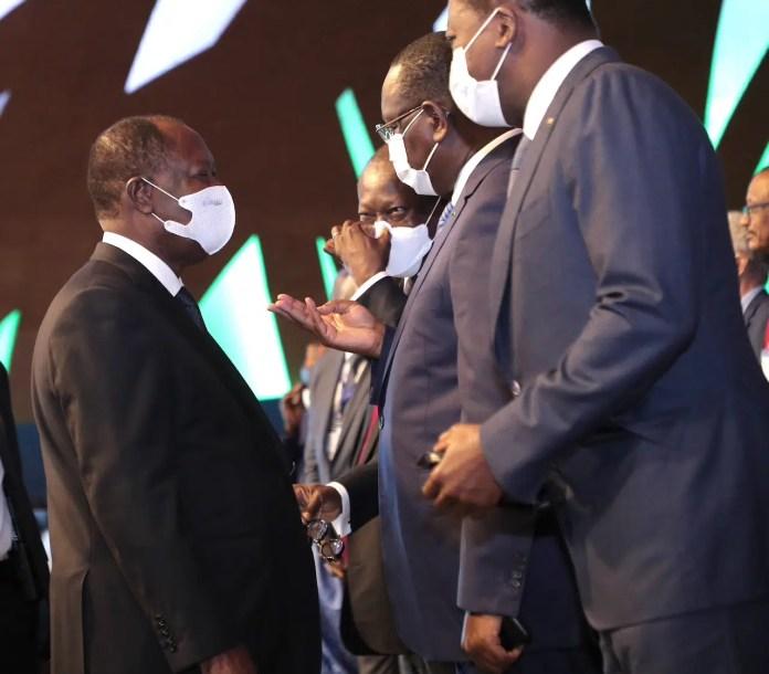 Alassane Ouattara, Faure Gnassingbé, Macky Sall et Patrice Talon