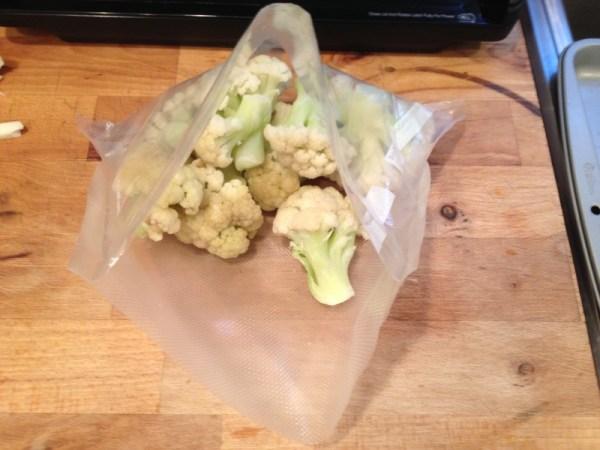 food saver bag filled