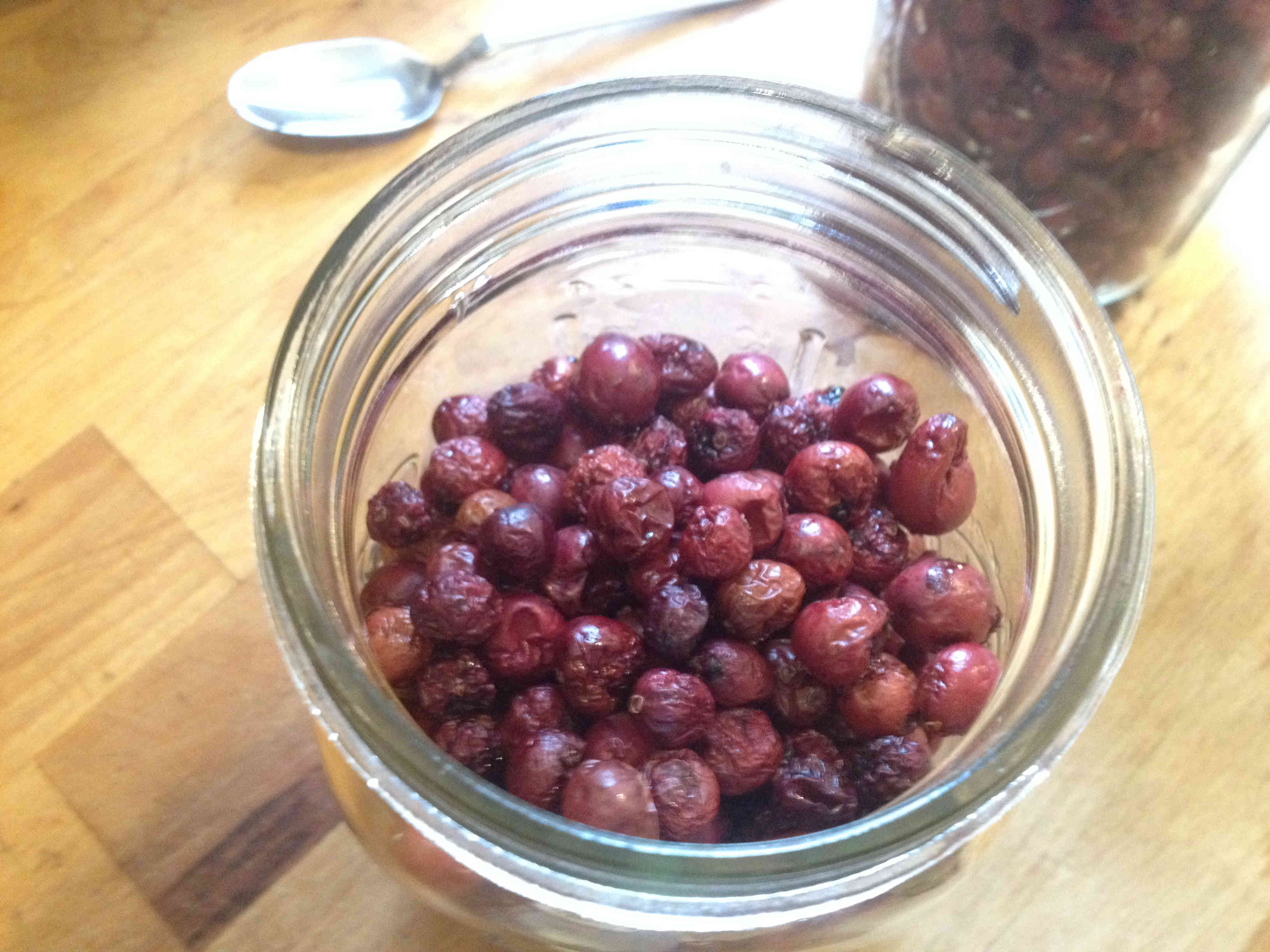 Whole Cranberries Dehydrated in Jar