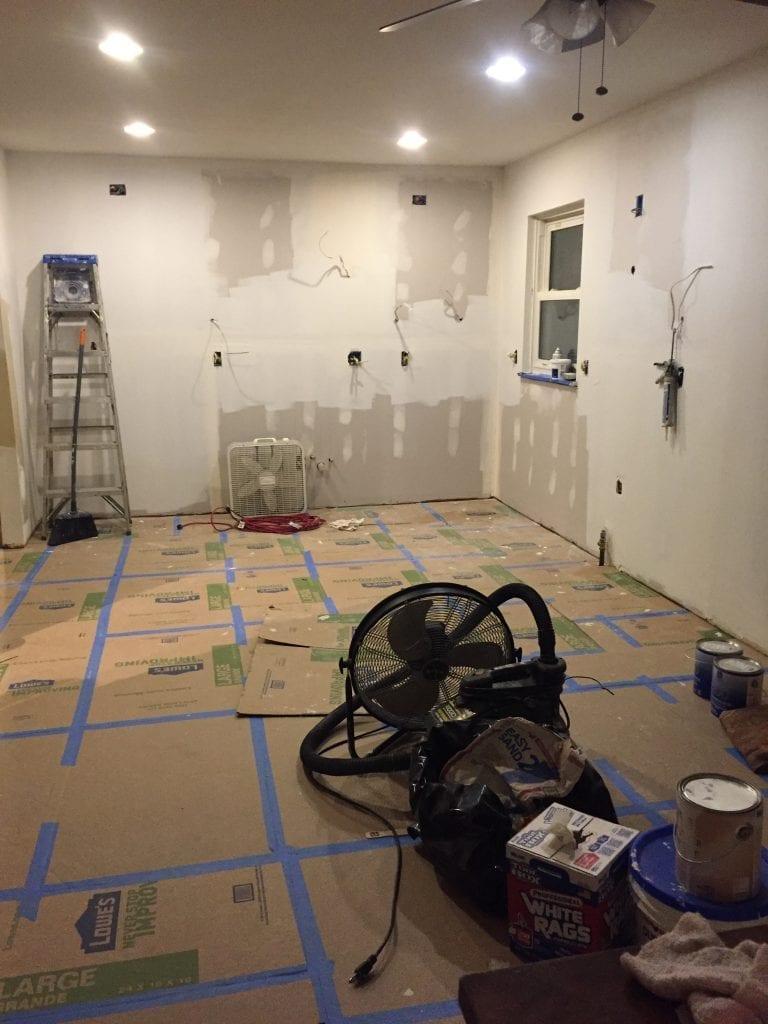 kitchen remodel before installing flooring