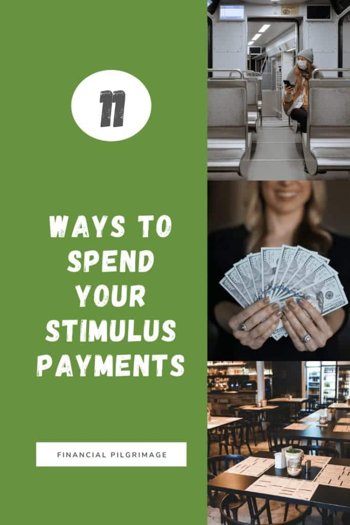 Ways to spend your stimulus payment to help others pinterest image